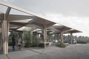 Architectural EV Charging Station COBE Architects